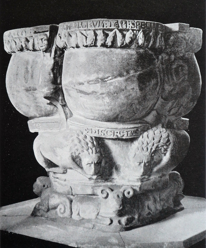 Fig 5. Baptismal font, St Mary's Church, Stafford.
